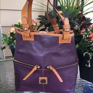Dooney & Bourke Purple/Eggplant Convertible Purse